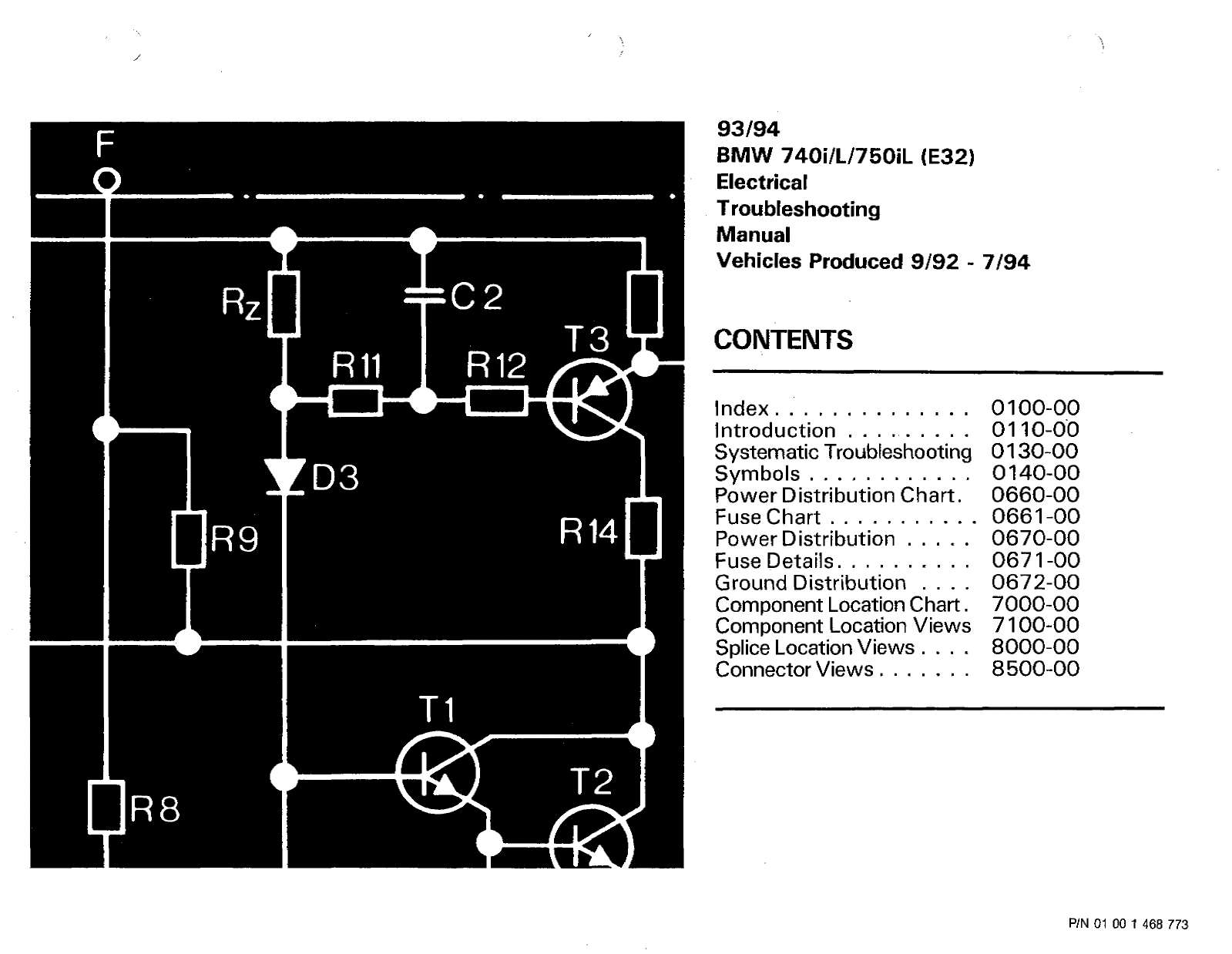 Bmw 740i L 750il E32 93 94 1993 740il Electrical Wiring Diagram Back To Start Page