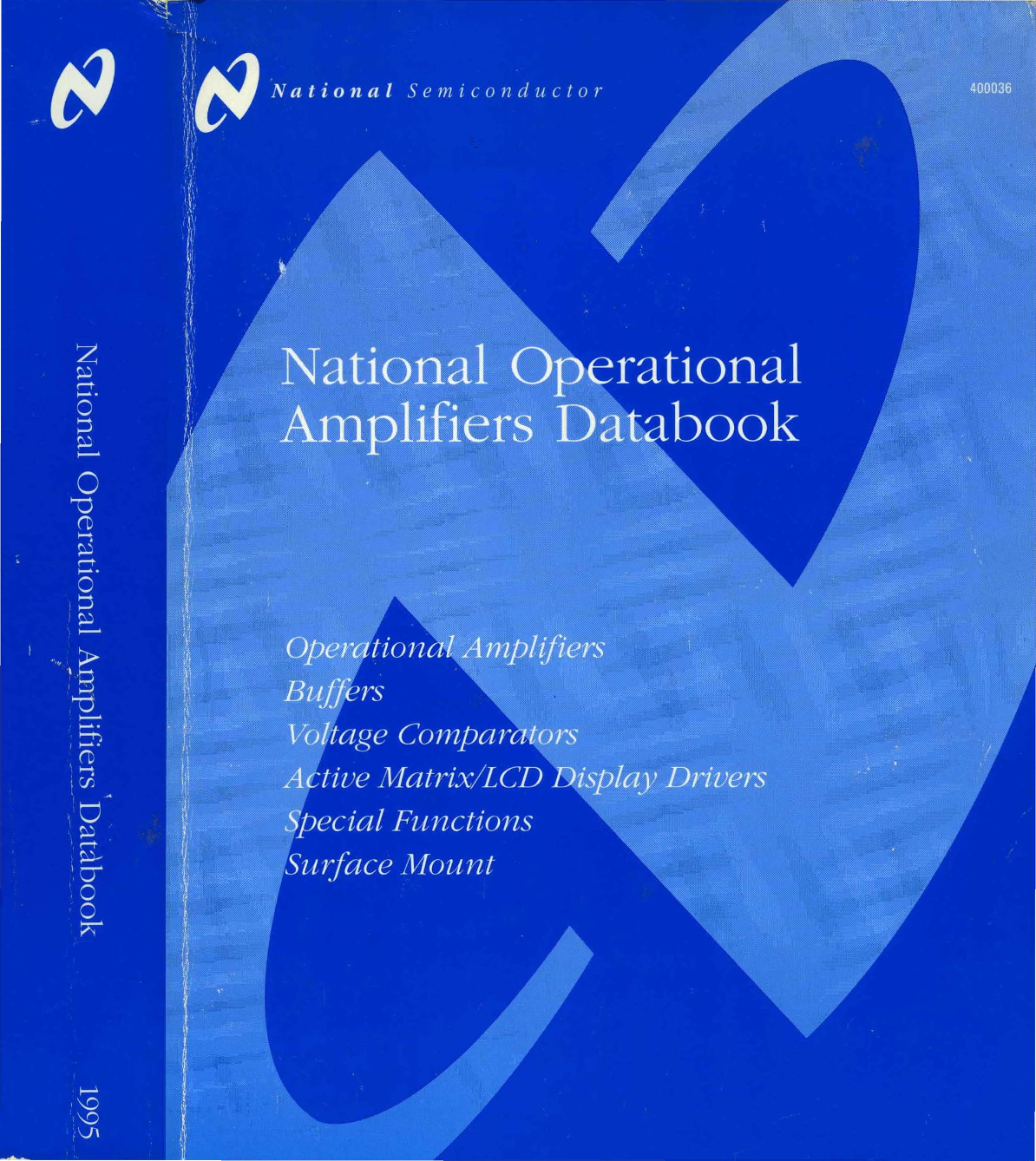 1995 National Operational Amplifiers Databook Dual Power Quad Opamp Circuit Filtercircuit Basiccircuit