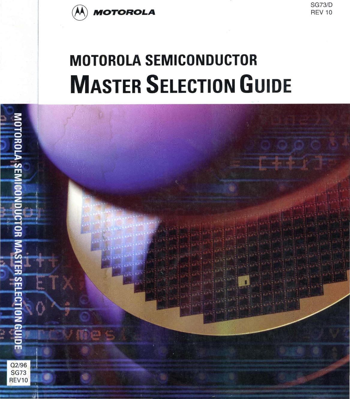 1996 Motorola Master Selection Guide Coilless Fm Transmitter
