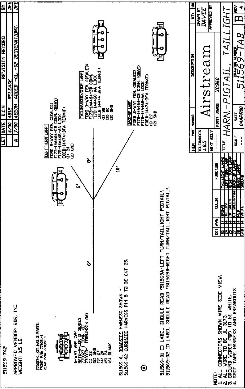 Airstream 396 2005 390 Sky Deck Xl Mh Manual Trailer Wiring Diagram
