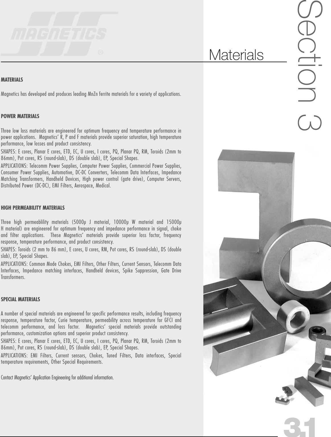 2005B Magnetics Ferrite Catalog uncut