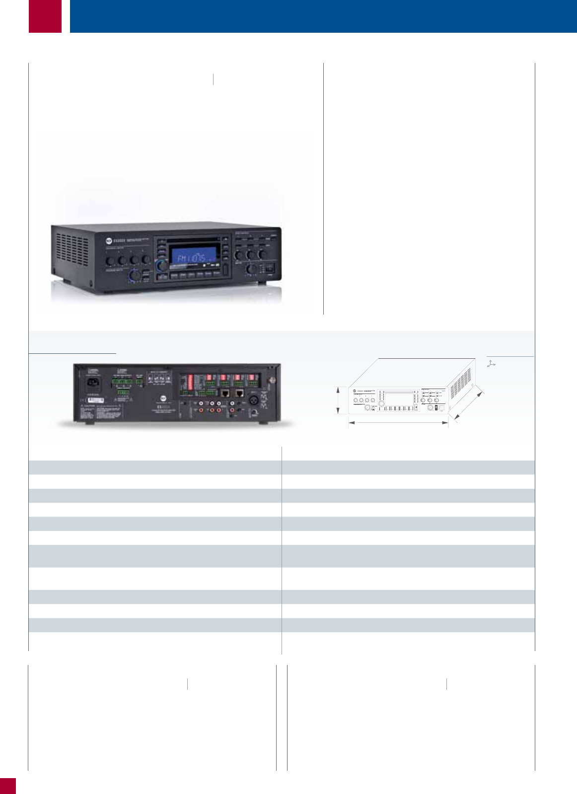 2010 Commercial Audio Catalogue Stk Ic 60w Specifications Es 3323