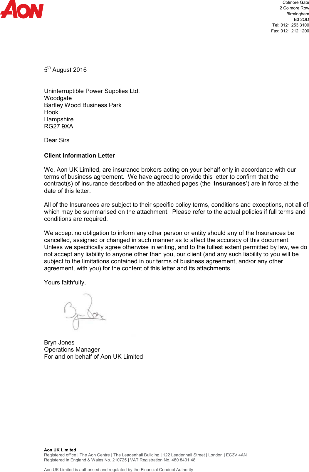 Page 1 of 2 - Client Information Letter  2016-17-Professional-Indemnity