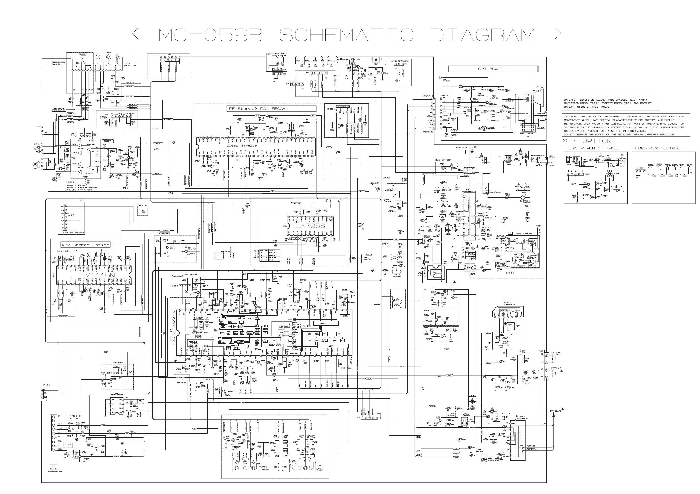 Diagram  Jvc Av N29220 Color Tv Schematic Diagram Full