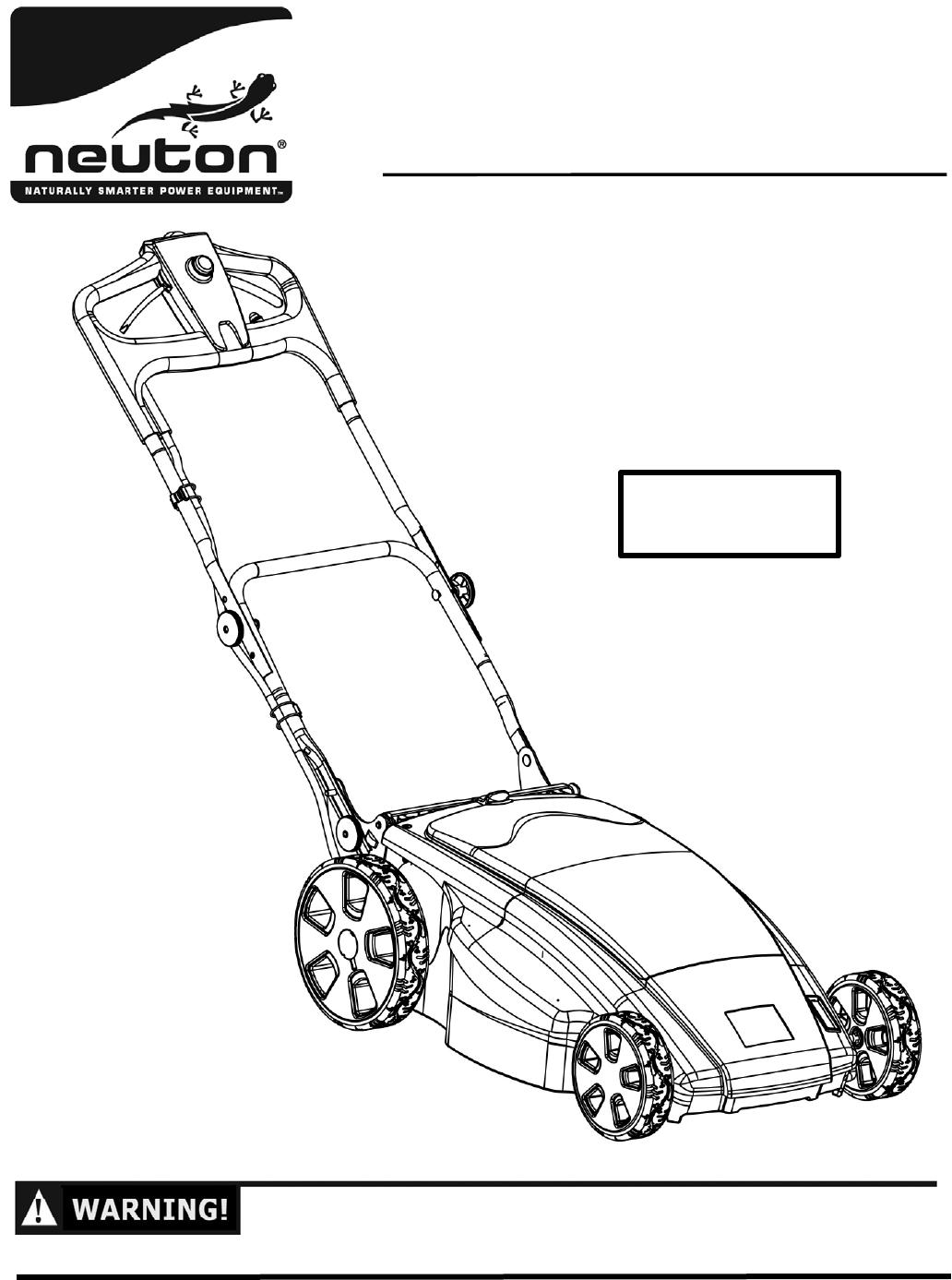 267991B Neuton Battery Powered Mower CE6.4 S&O Manual Engl… !! CE6 on
