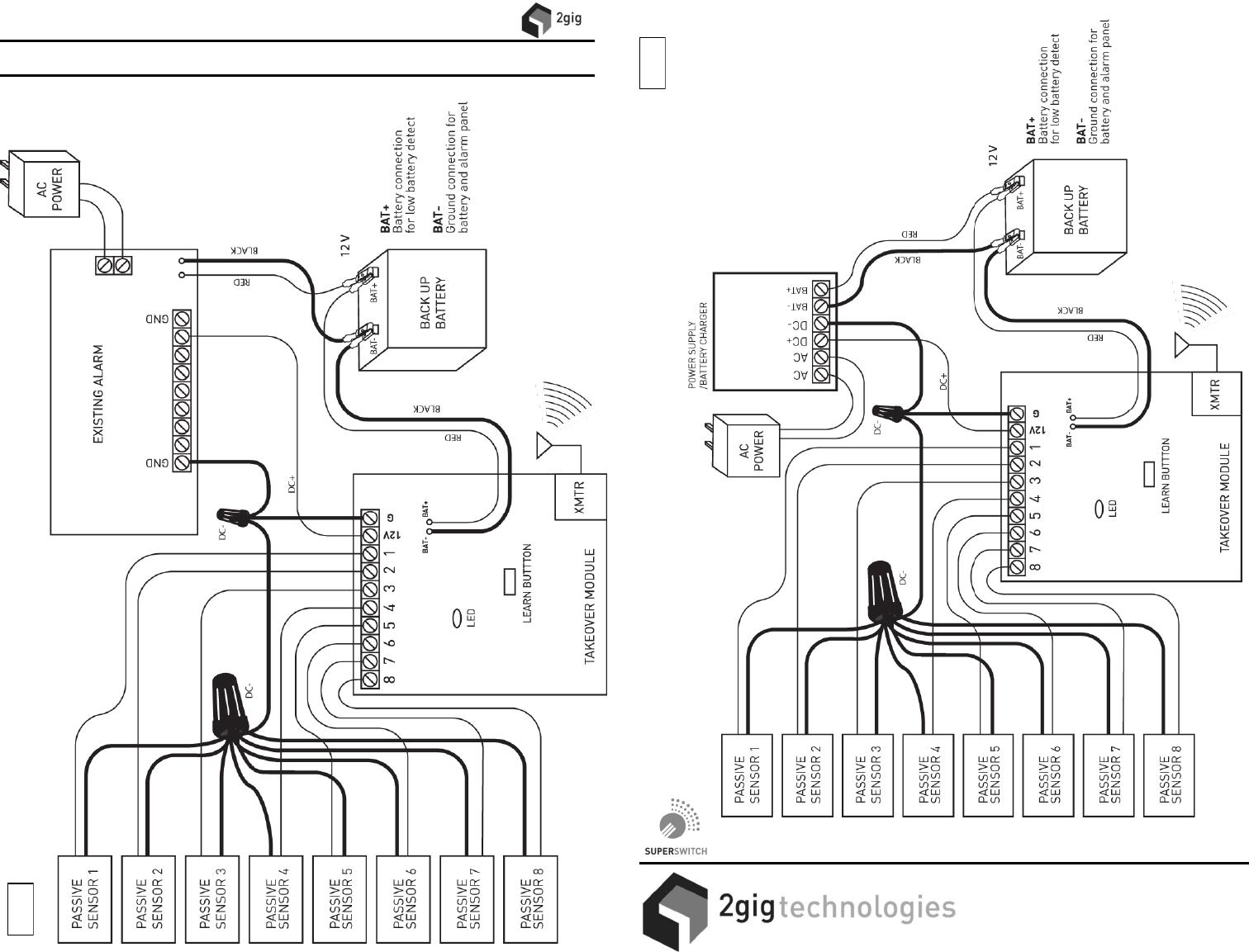 2gig Wiring Diagram Electrical Diagrams Simon Xt Take 345 Super Switch Wireless Takeover Module Manual Ladder
