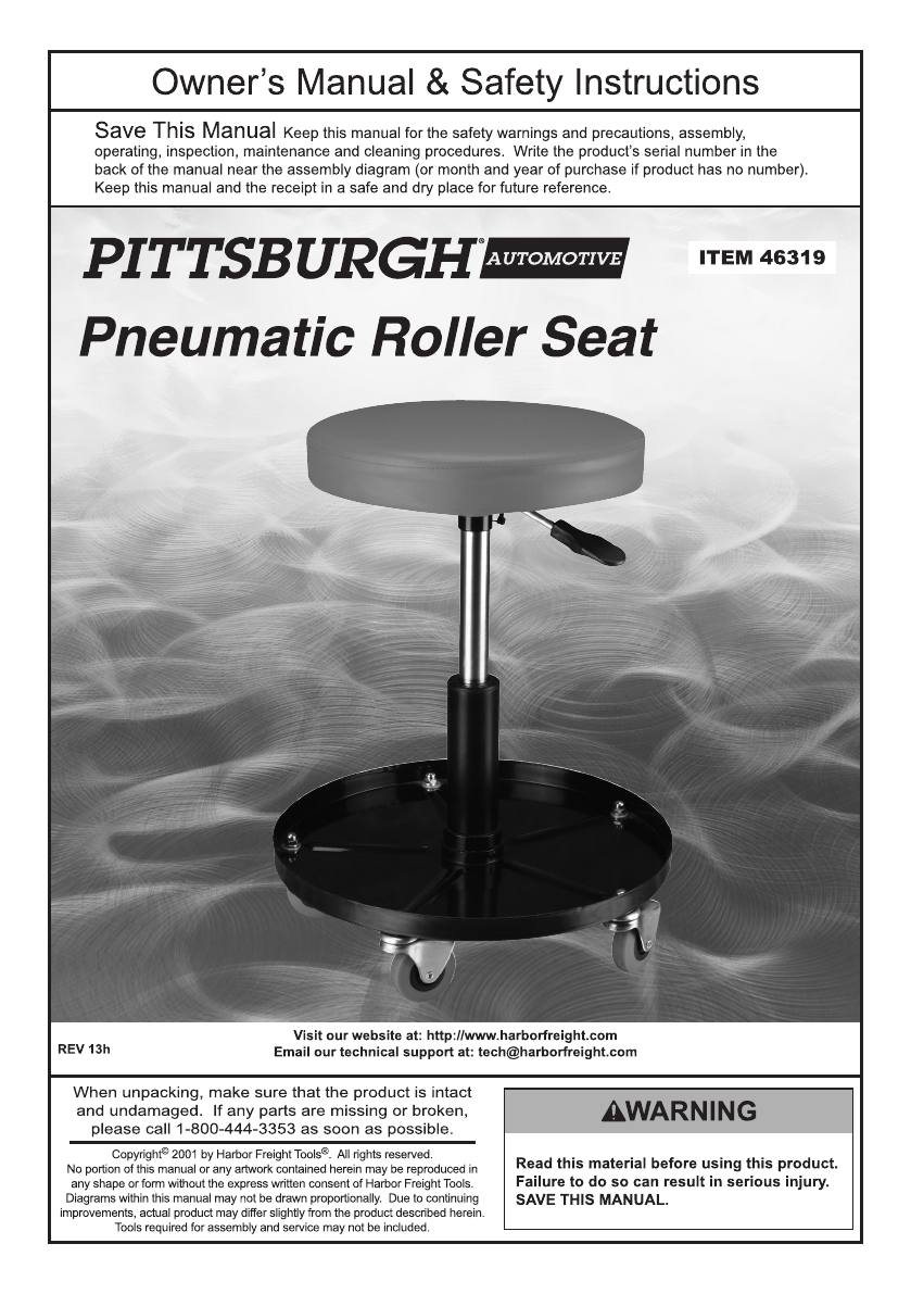Admirable Manual For The 46319 Pneumatic Adjustable Roller Seat Ibusinesslaw Wood Chair Design Ideas Ibusinesslaworg