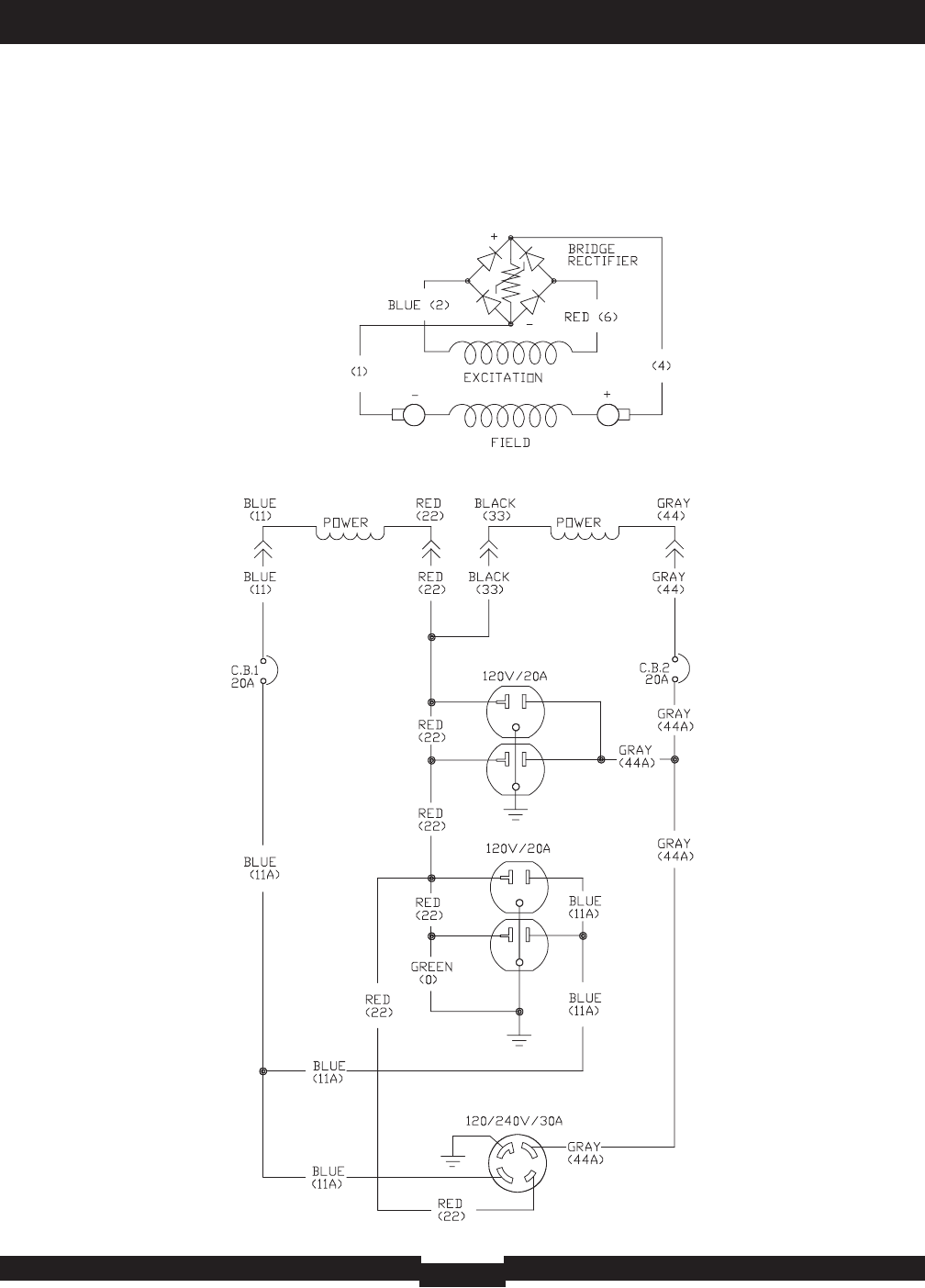 030209 2wds 030209 2 5500 Watt Portable Generator Briggs Stratton Generac Electrical Wiring Diagram