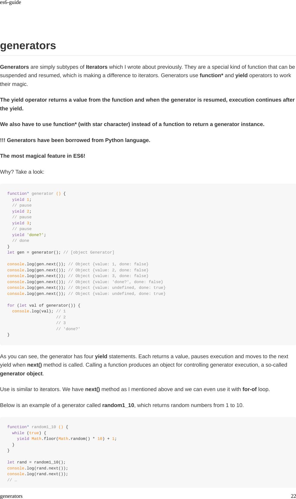 Es6 guide [JAVASCRIPT][ECMAScript 6 (ES6) Guide]