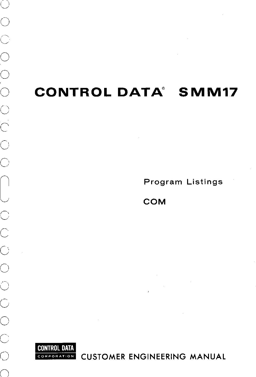 60220200E_SMM17_Program_Listings_COM_Feb75 60220200E SMM17