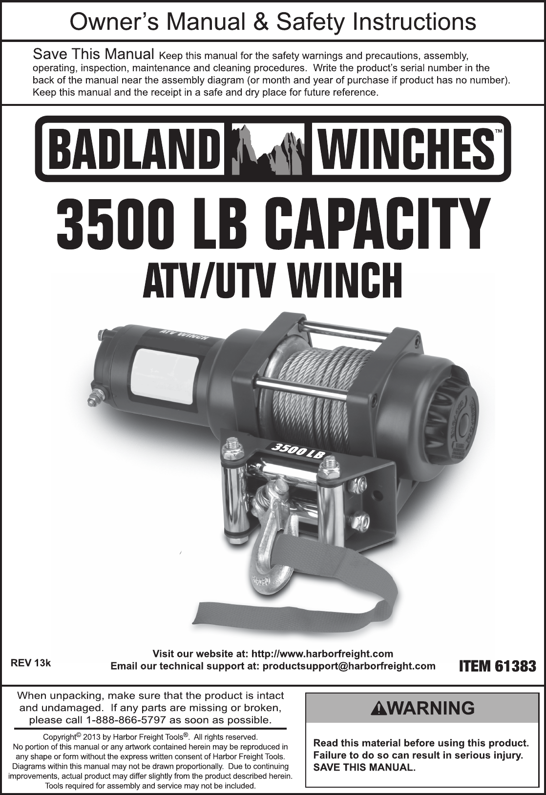 Harbor Freight Winch Wiring Diagram | Wiring Library