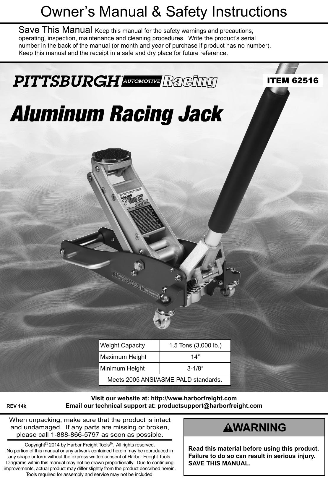 Hydraulic Jack Manual Guide
