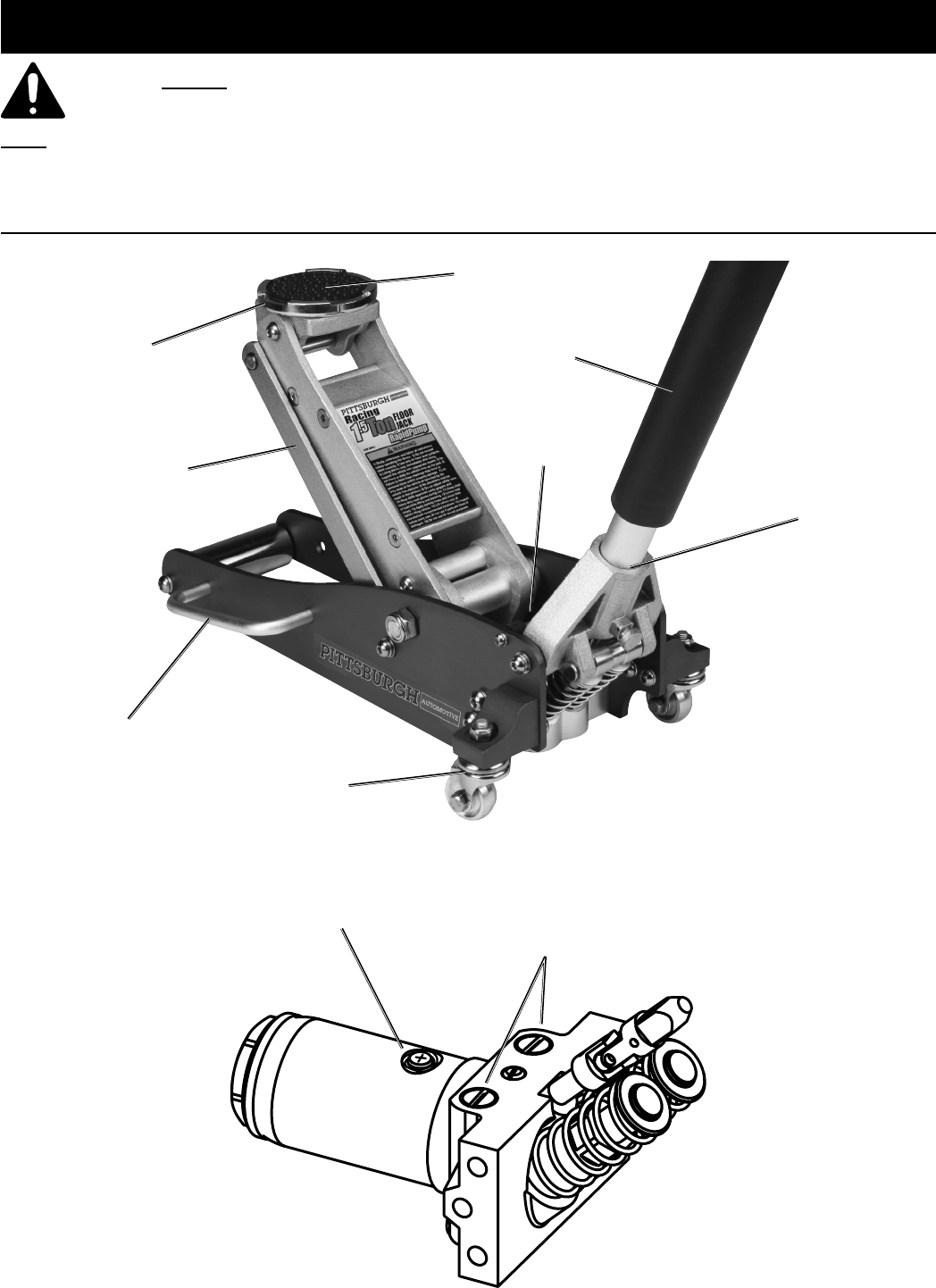 Manual For The 62516 1 5 Ton Compact Aluminum Racing Floor Jack