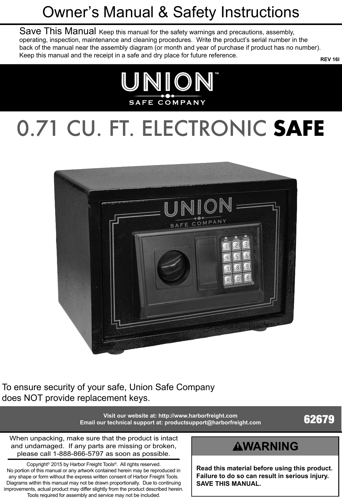 Stalwart Electronic Digital Safe Instructions Manual Guide