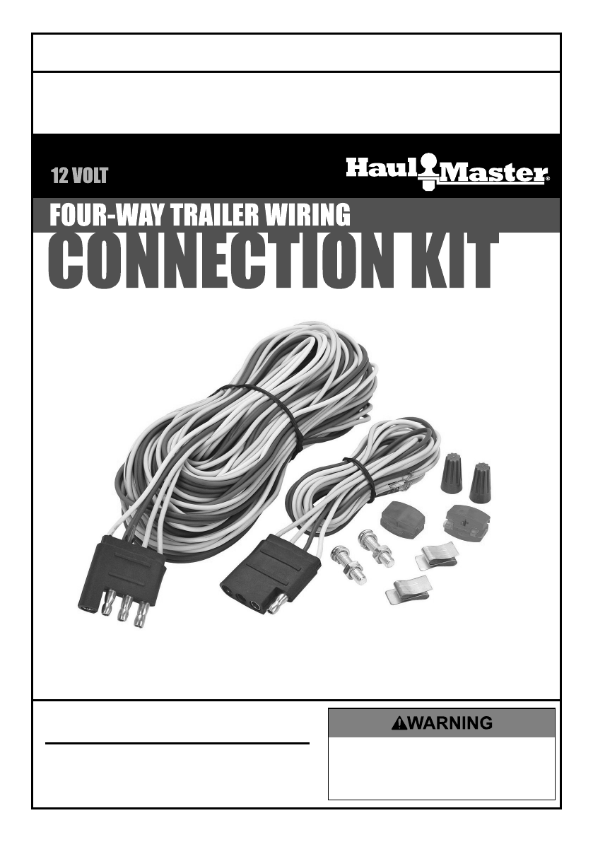 Manual For The 62990 Four Way Trailer Wiring Connection Kit