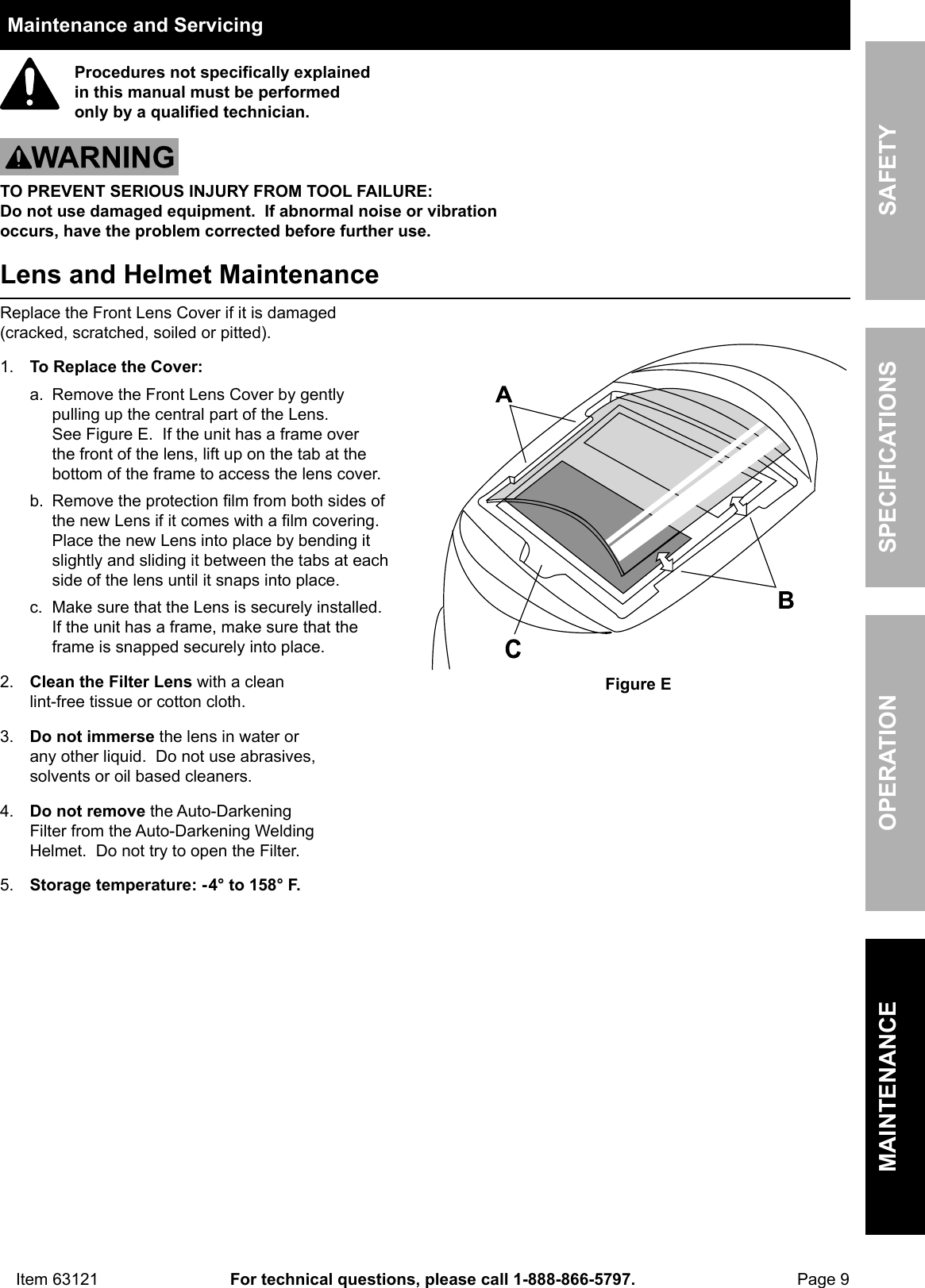 Manual For The 63121 Auto Darkening Welding Helmet With Racing Diagram Page 9 Of 12 Stripe