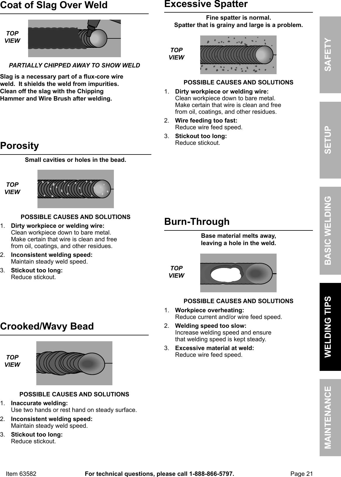 Manual For The 63582 Flux 125 Welder