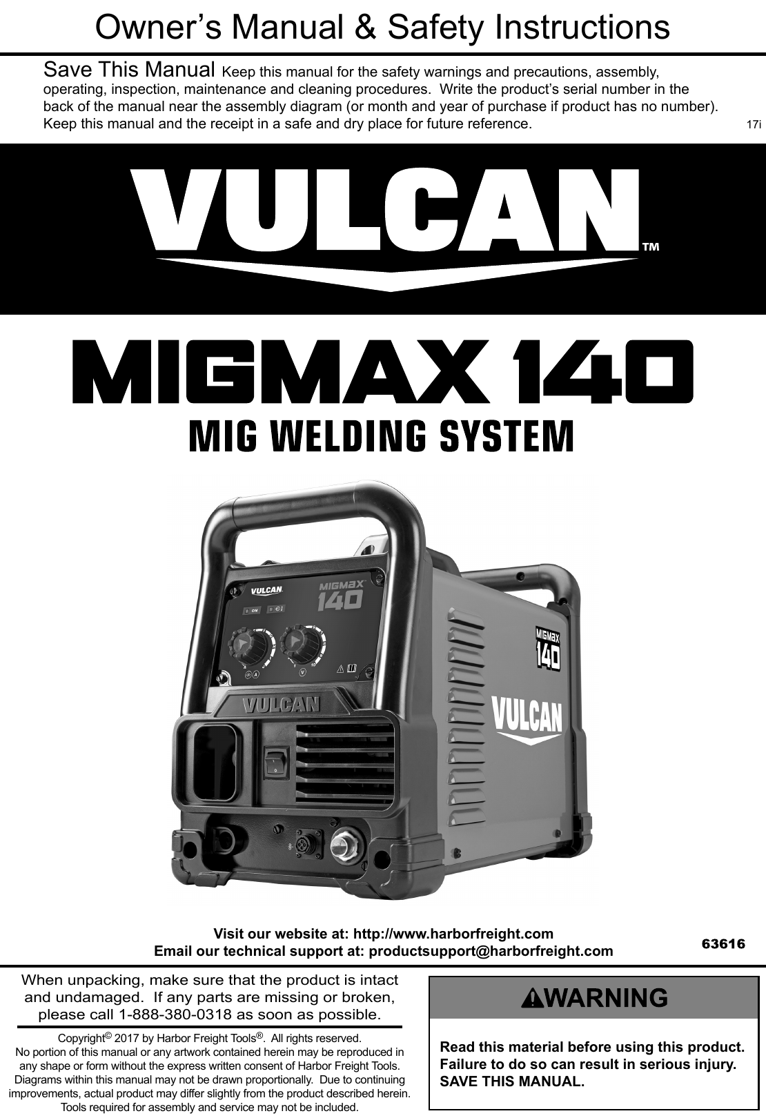 Manual For The 63616 Migmax 140 Welder With 120 Volt Input Diagram As Well Mig Welding Machine On Arc Wiring