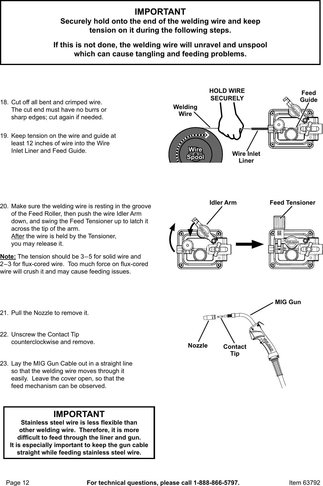 Manual For The 63792 180a Mig Gun