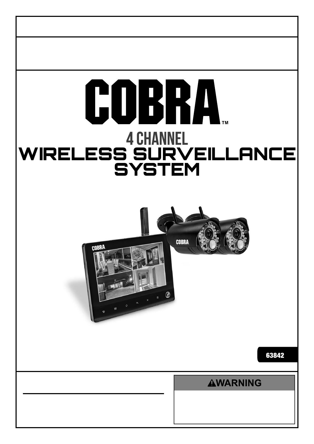 Manual For The 63842 4 Channel Wireless Surveillance System With 2