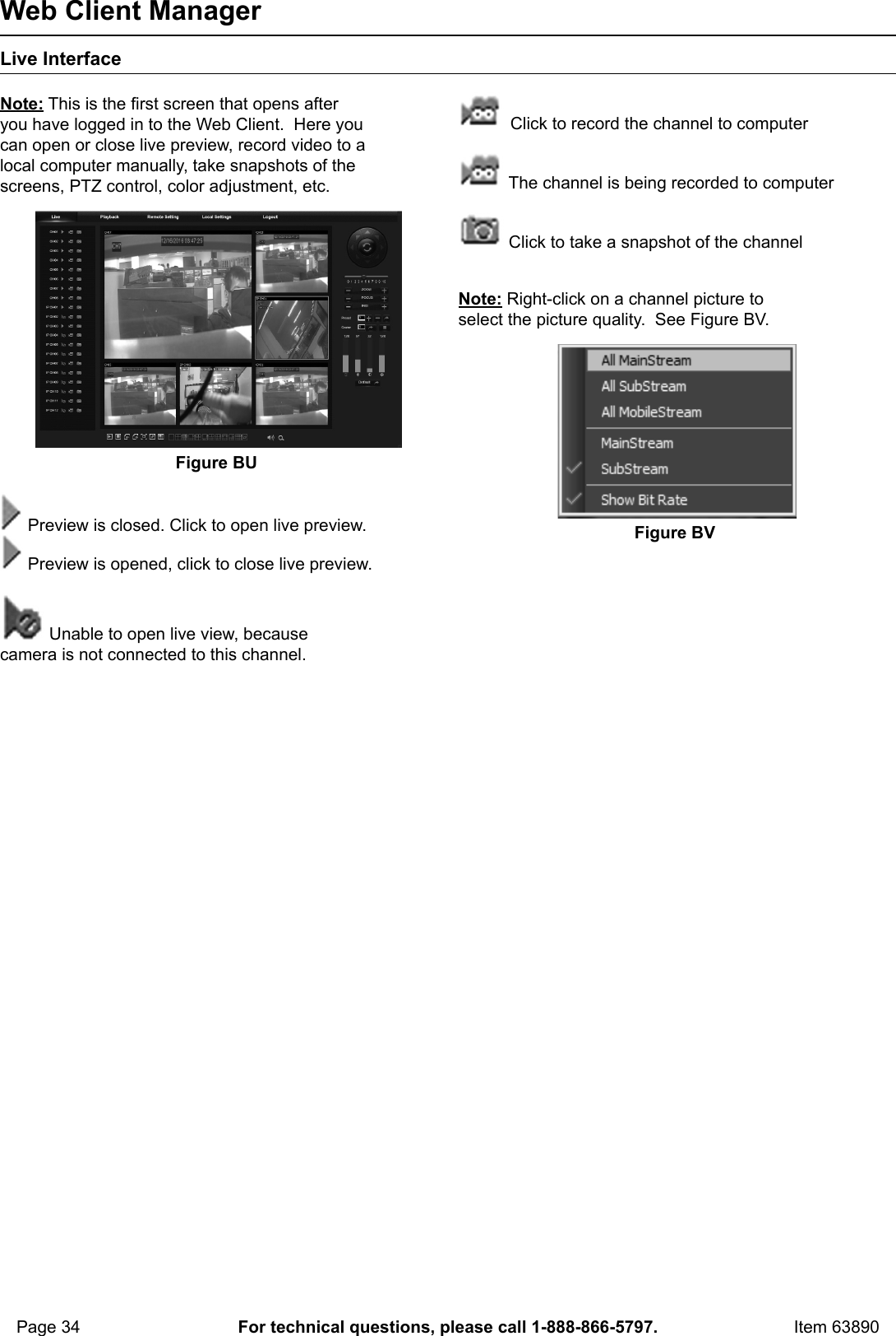 Manual For The 63890 8 Channel Surveillance DVR With 4 HD Cameras