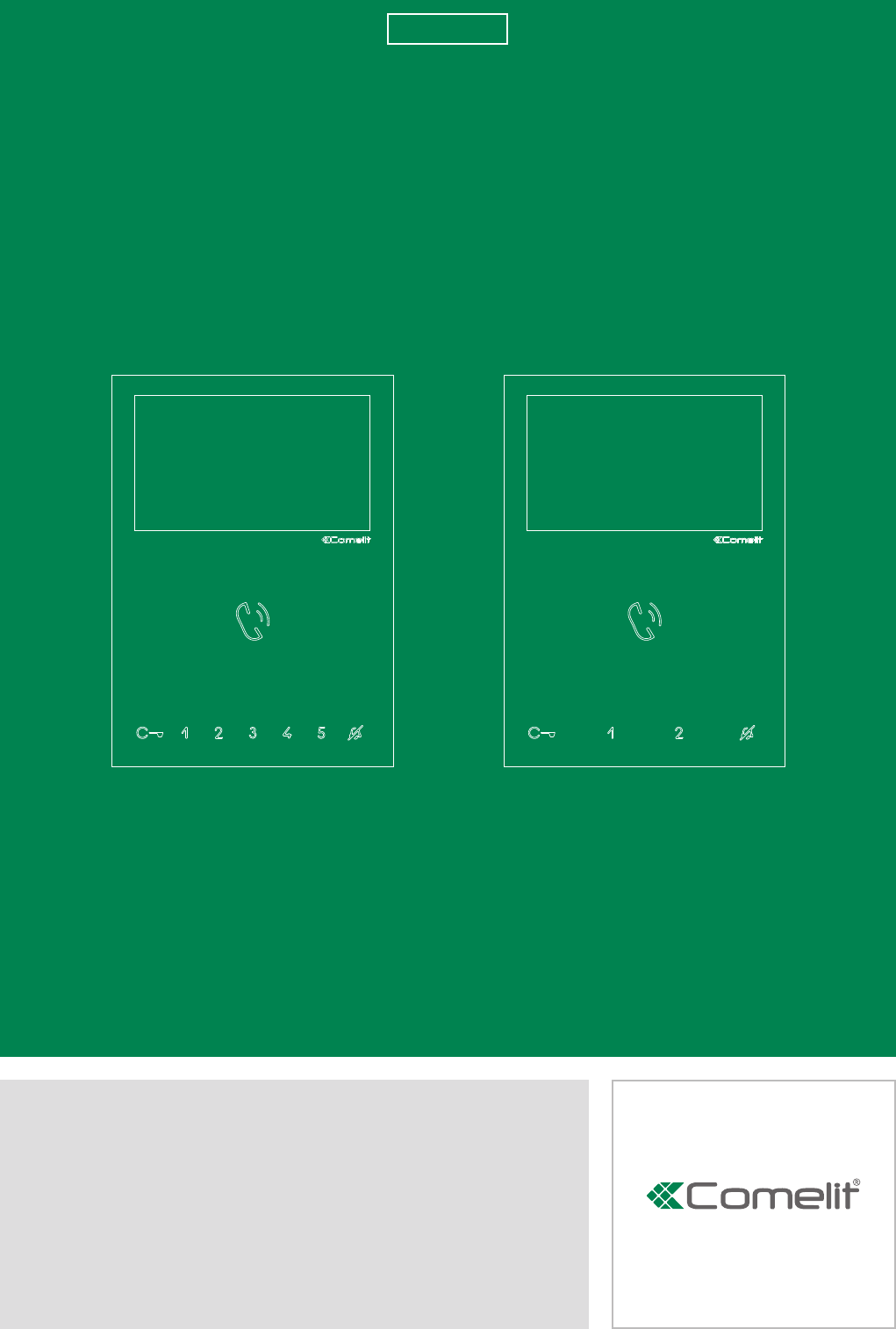 6721w manual comelit user