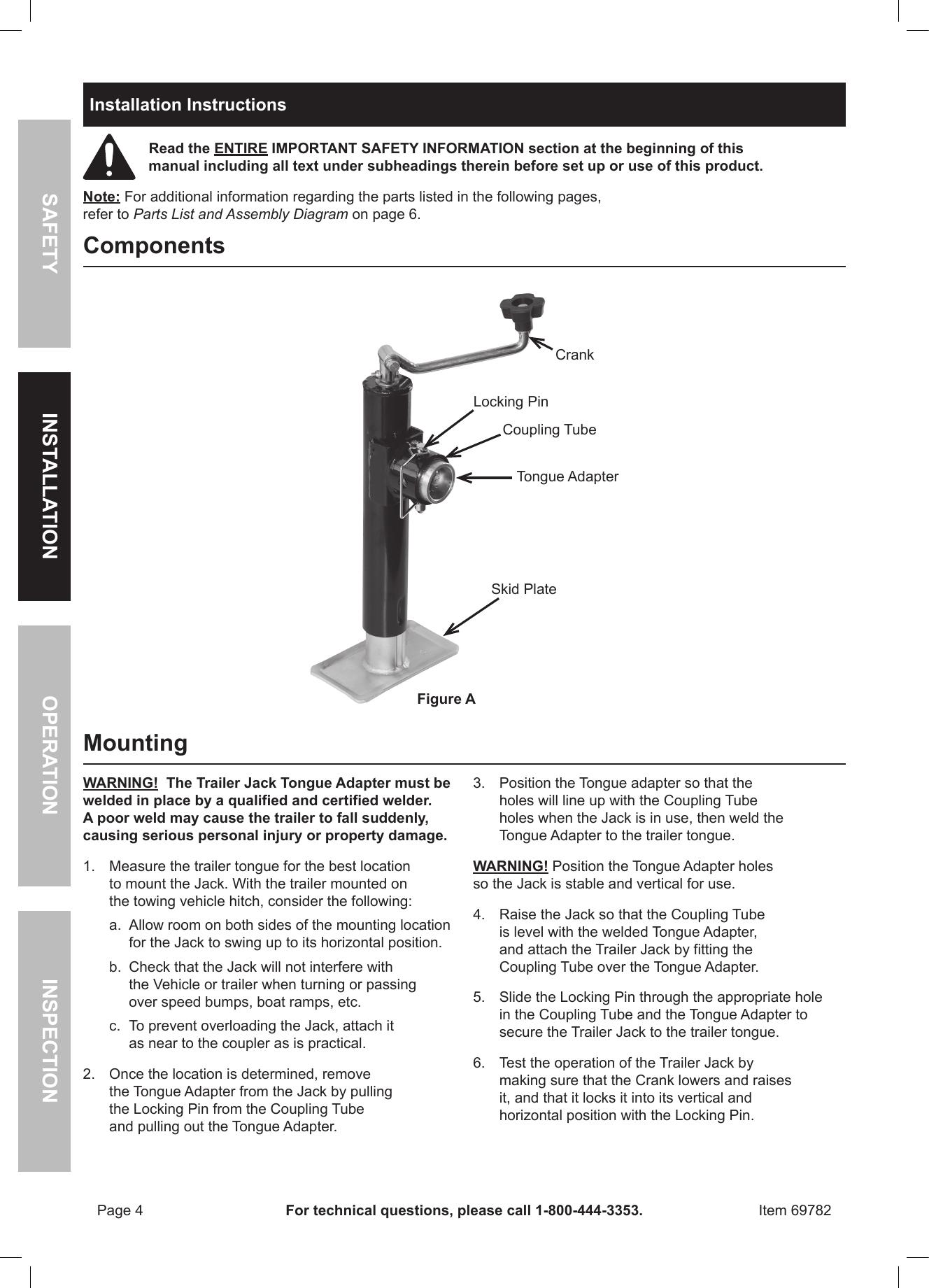 Curt 58140 Trailer Manual Guide
