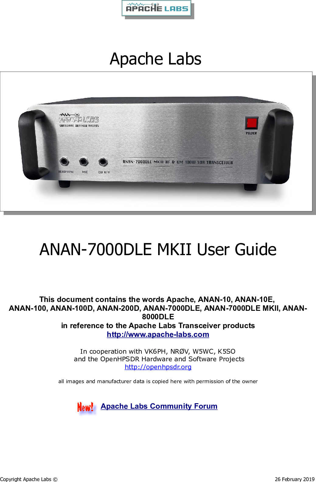 7000DLE MKII User Guide odt Guide