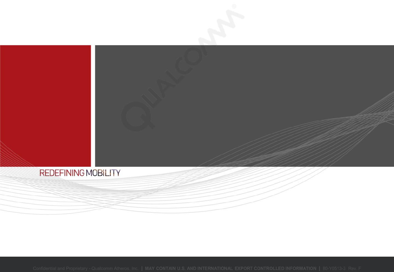 QCA WCN36x0 WLAN Power Optimization Guide 80 Y0513 3 F