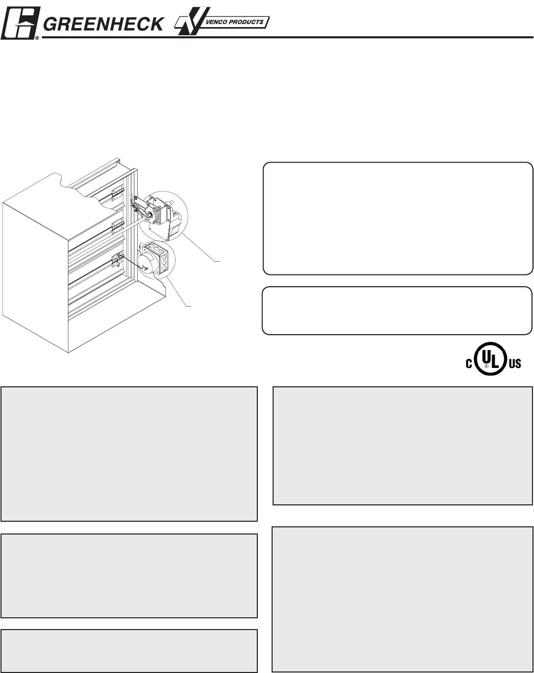 Smd Series 826250smoke Dampers Smdsmdr Iom System Sensor D4120 Wiring Diagram Installation Supplements