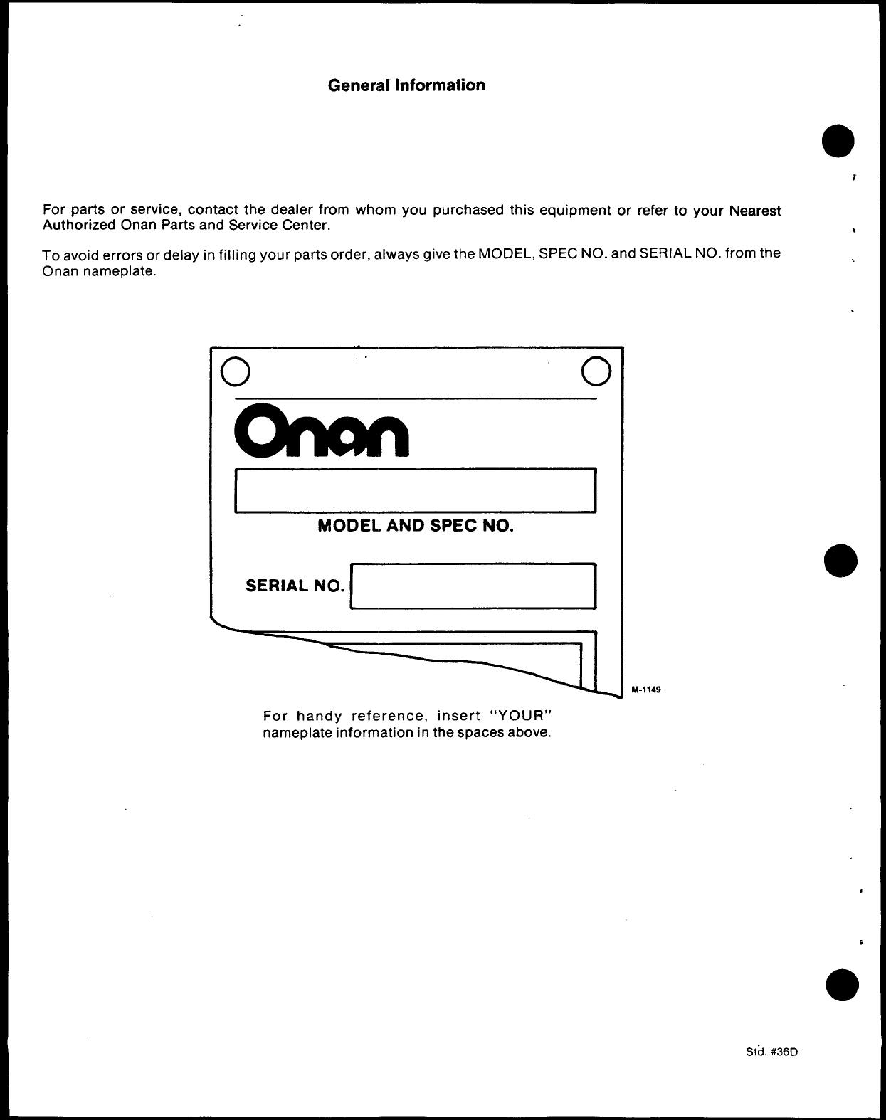 Onan 309-0257