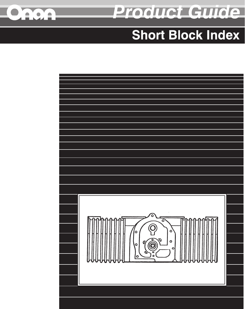 932 0109B Onan RV Genset Short Block List on