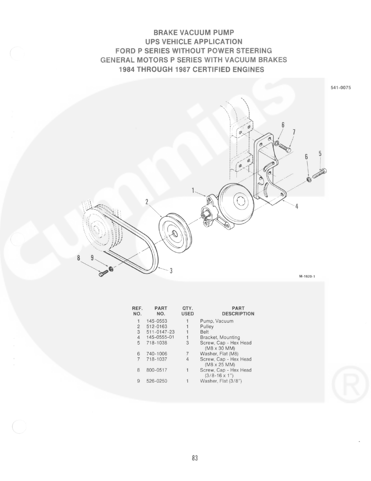 Scanned 934 0255 Onan L634t A Diesel Engine Parts Manual 09 2013 3 8 Chrysler Motor Mount Diagram Cummins Power Generation