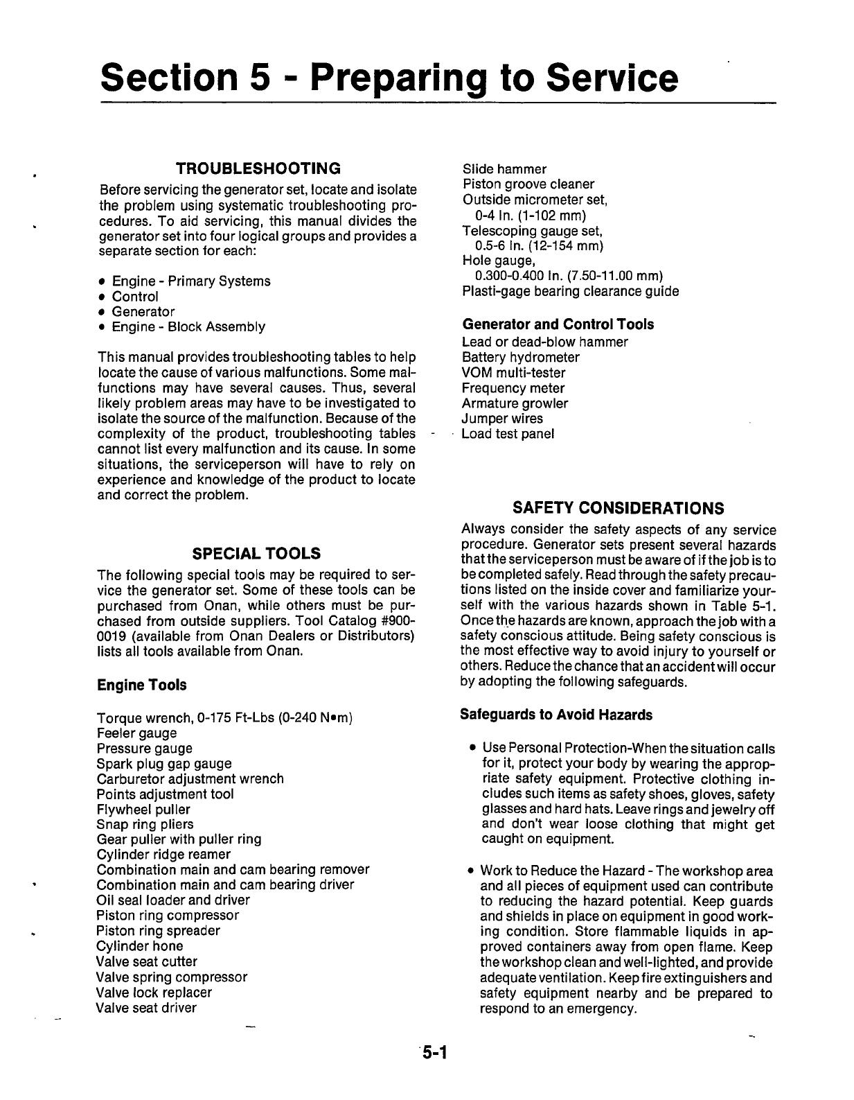940 0502 Onan NHE NHEL (spec A C) RV Genset Service Manual (07 1987)
