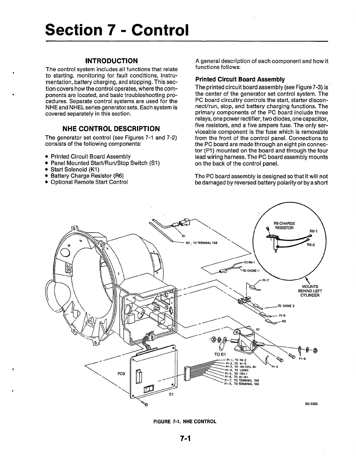 940 0502 Onan Nhe Nhel Spec A C Rv Genset Service Manual 07 1987 Skun Pcb Set 7500 5