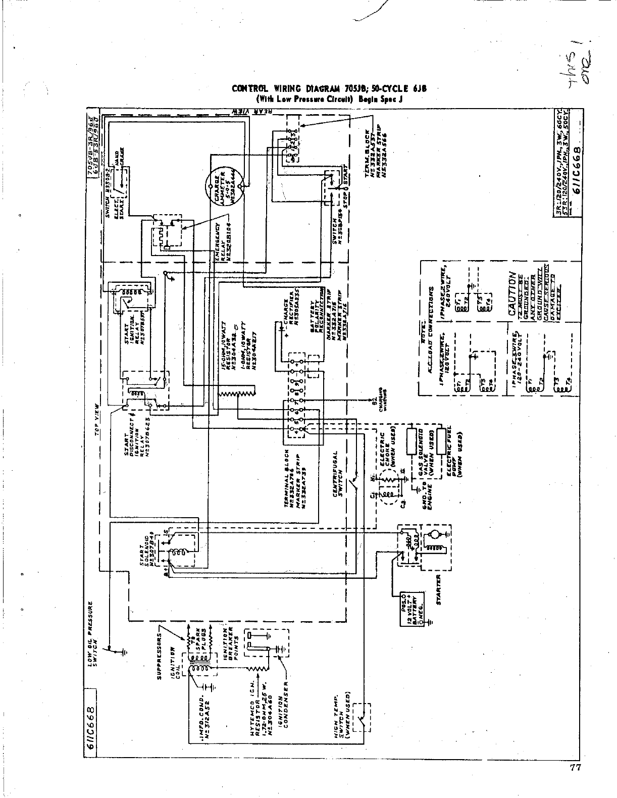 Wiring Diagram For Onan 12 5jc Schematics Diagrams J B 967 0500 Jb Jc Spec A T Genset Service Manual Magneciter End Rh Usermanual Wiki Coil