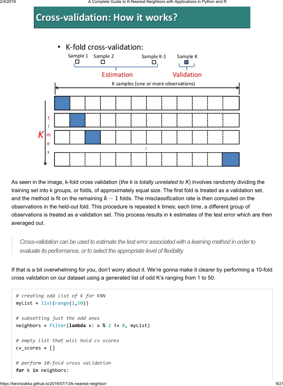 A Guide To K Nearest Neighbors With Applications In Python And R