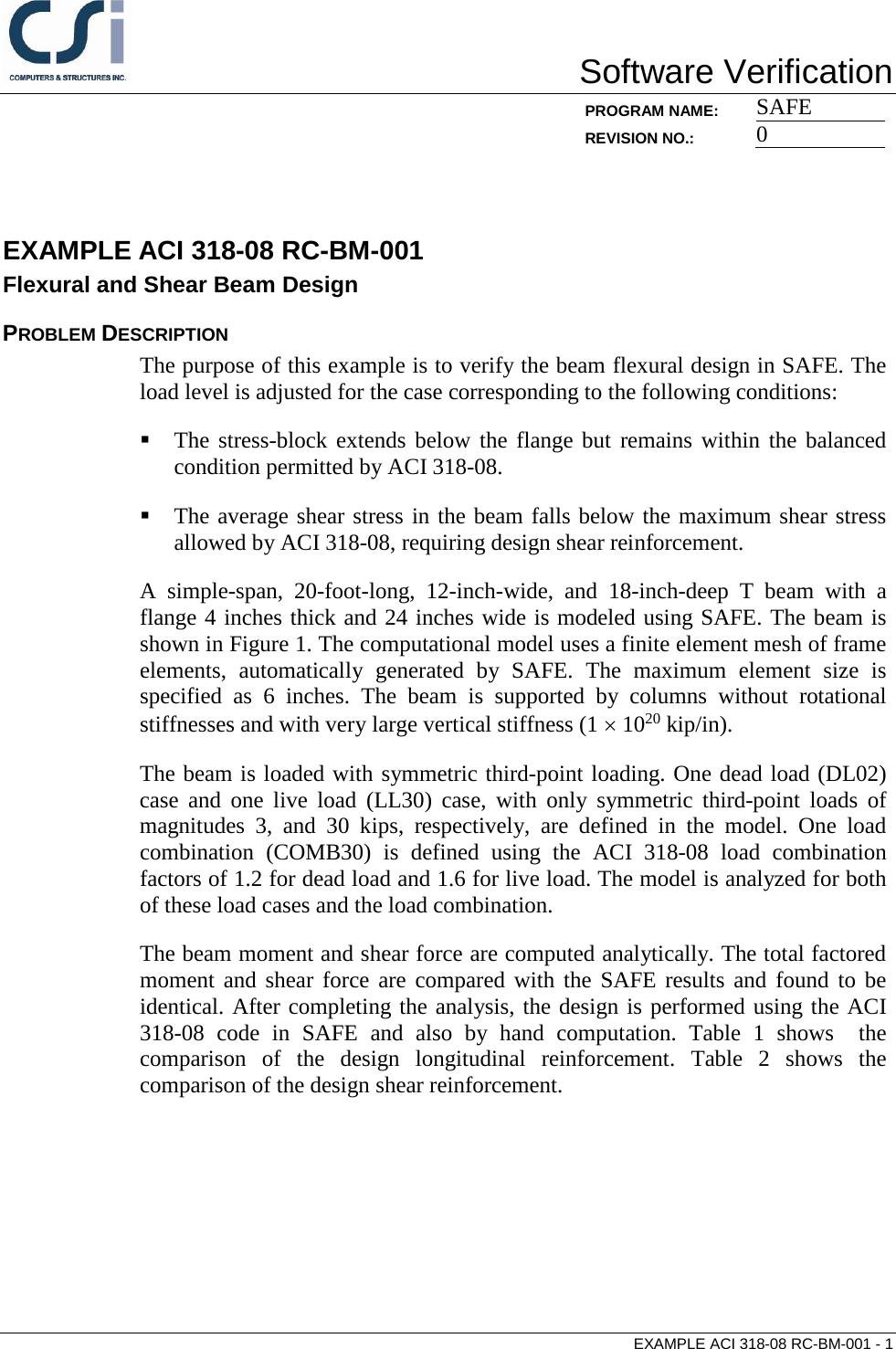 Contents ACI 318 08 RC BM 001