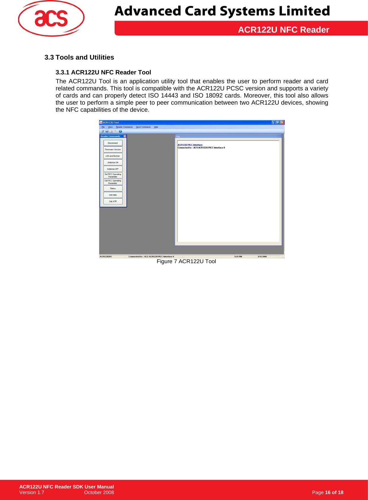 ACR122U NFC Reader SDK User Manual_v1 7 Manual
