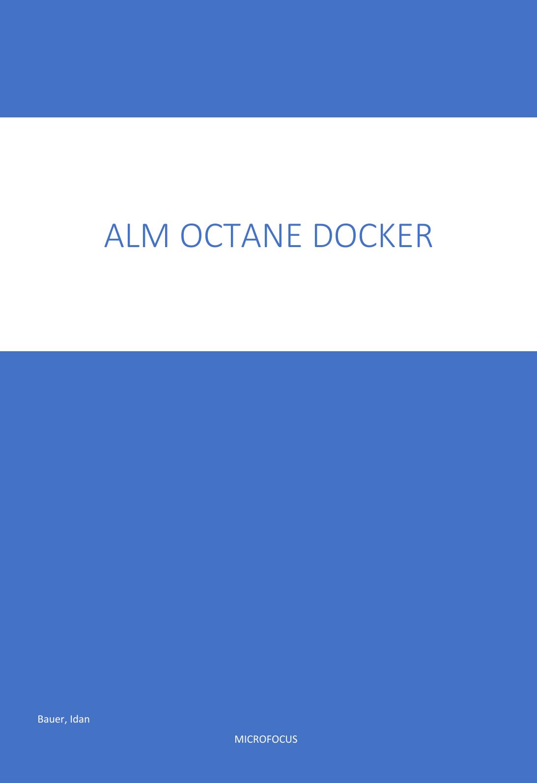 ALM OCtane Docker Installation Guide