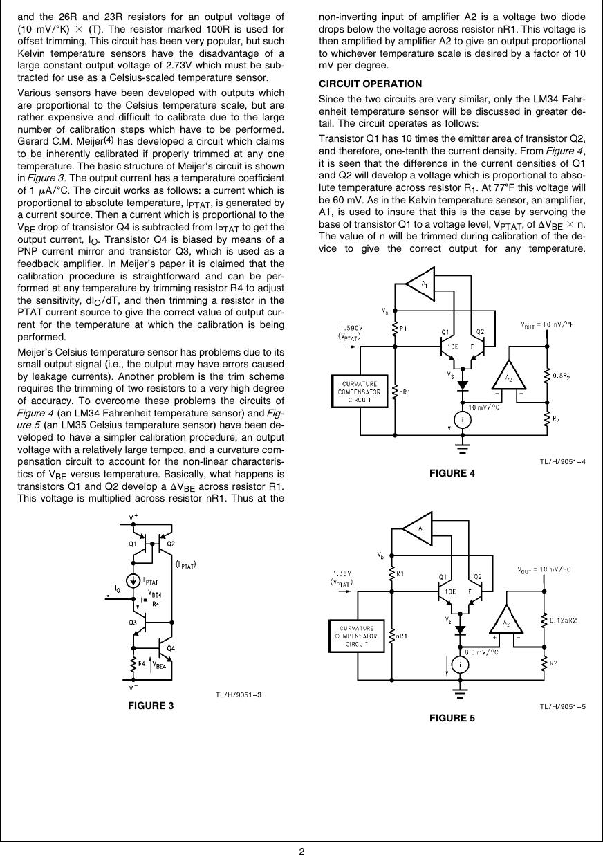Lm34 Lm35 Precision Monolithic Temperature Sensors An 0460 Figure 3 Sensor Schematic Page 2 Of 10