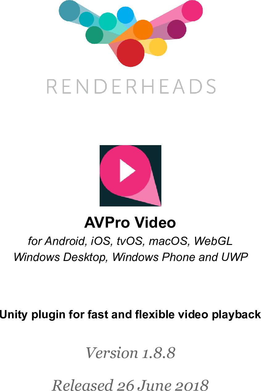 AVPro Video User Manual