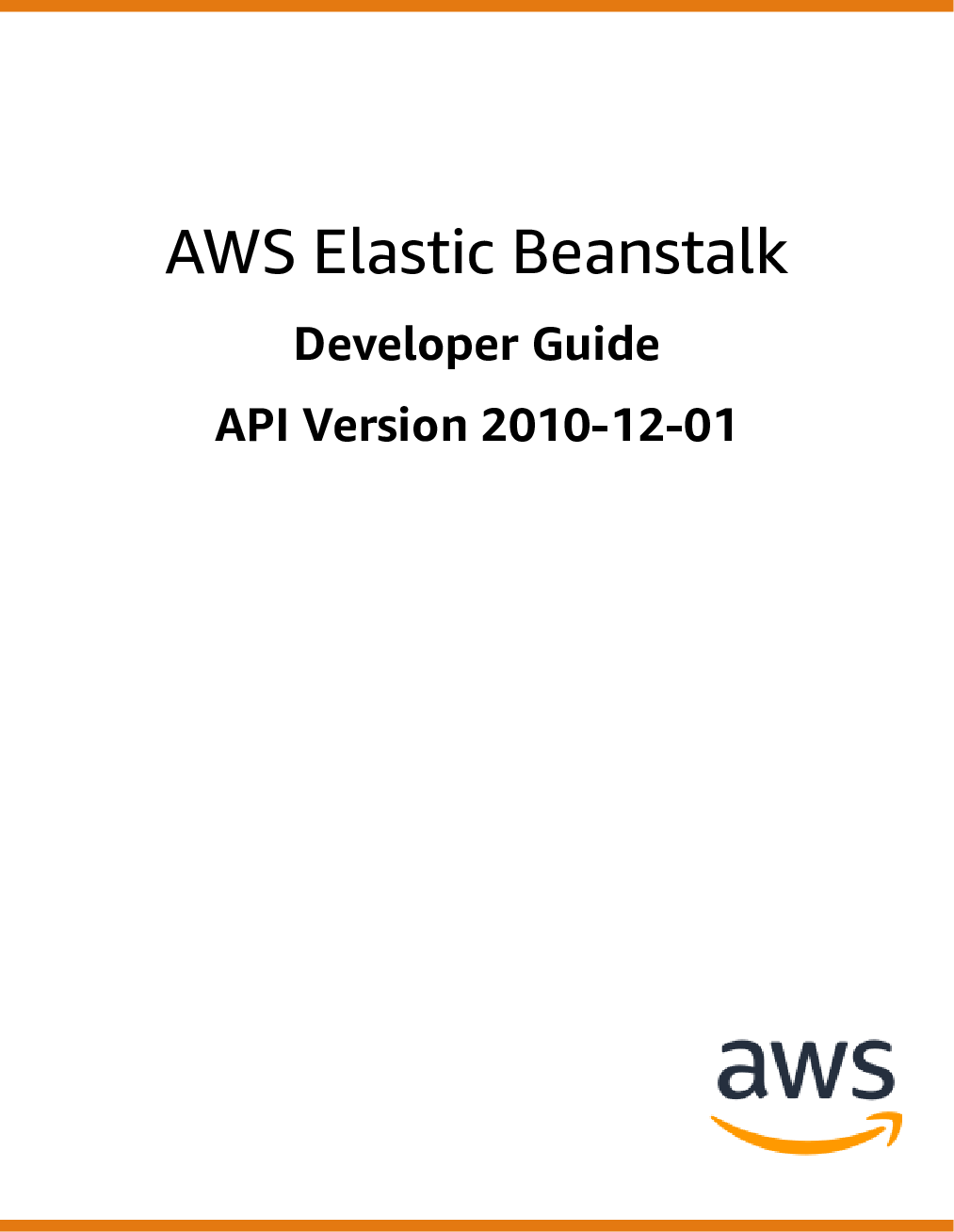 AWS Elastic Beanstalk Developer Guide