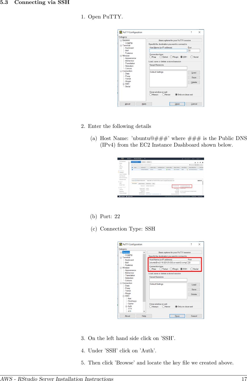 AWS RStudio Instructions