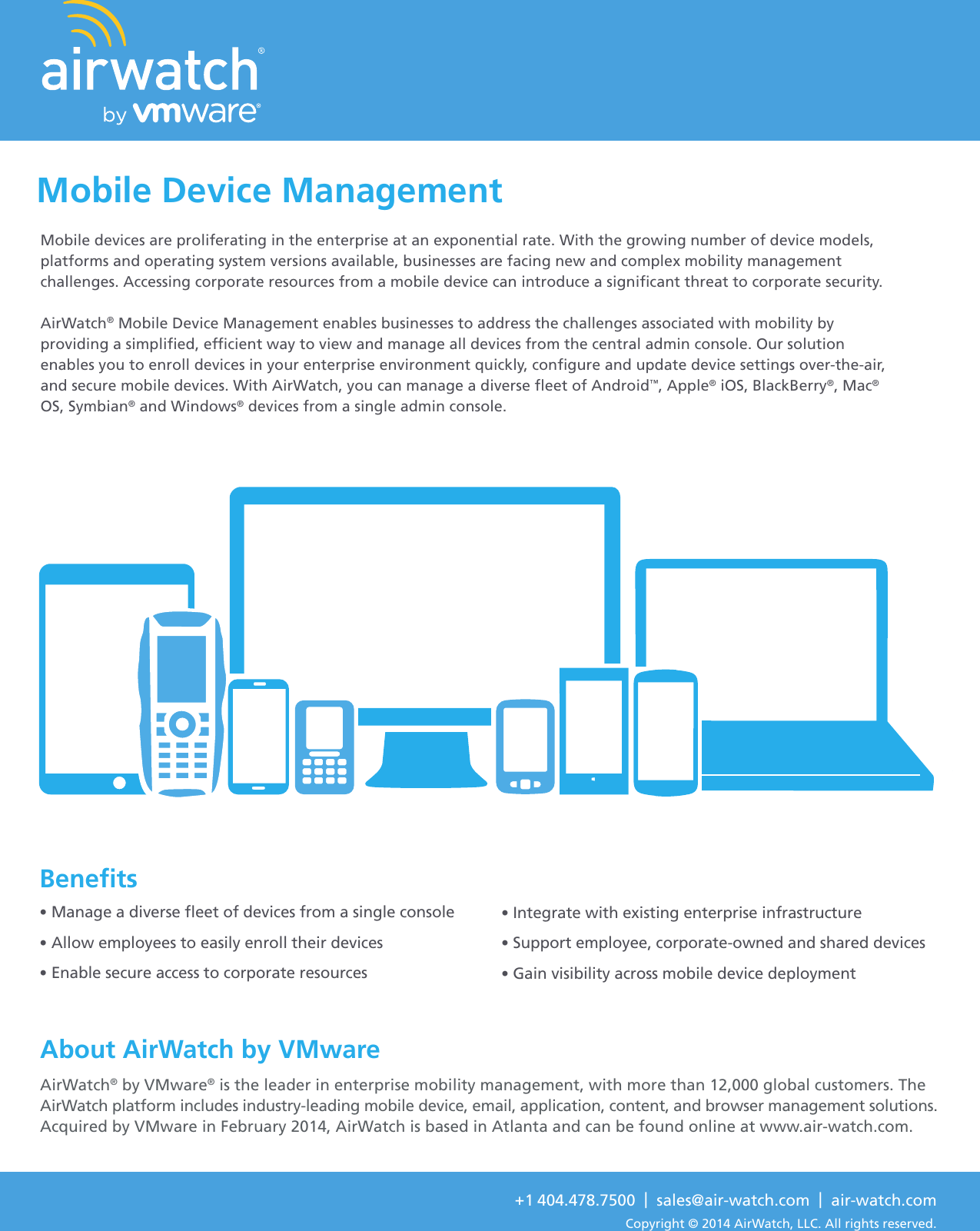 AirWatch By VMware Mobile Device Management Air