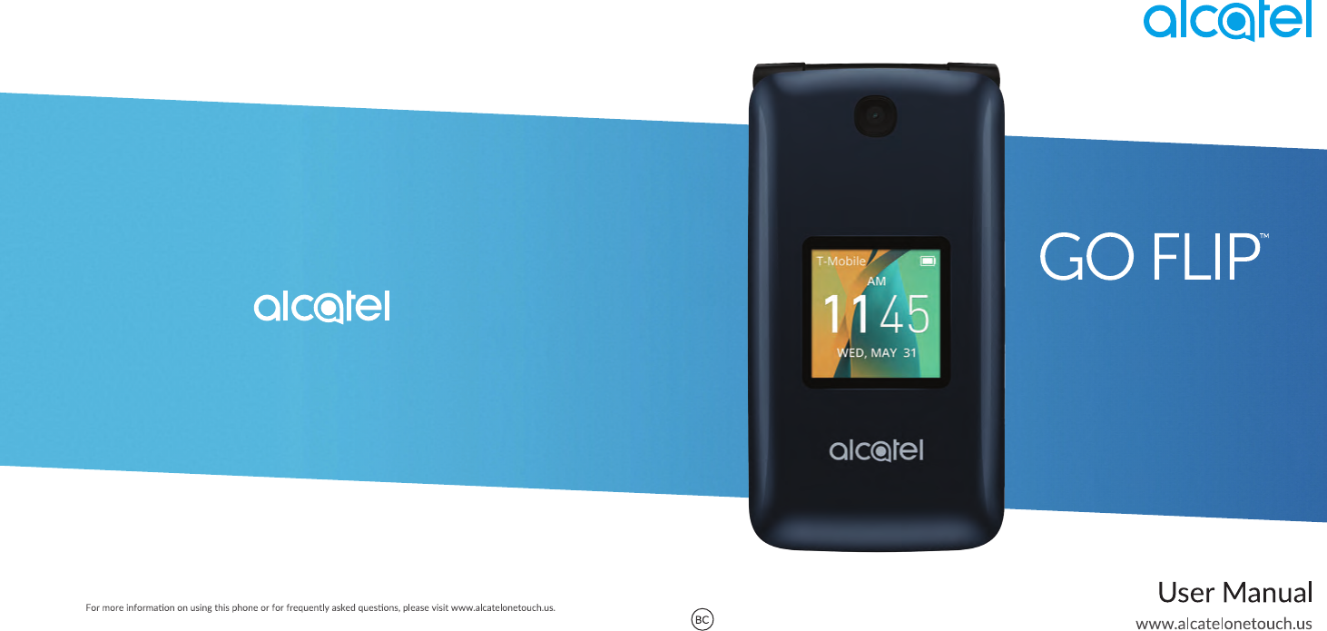 Manual Alcatel GO FLIP Quick Start Guide ENGLISH 11Apr2017