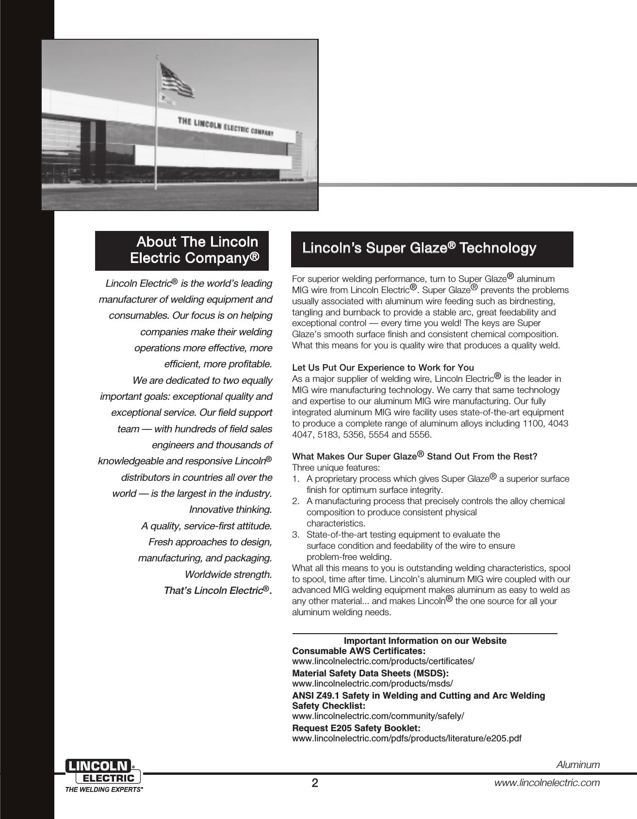 SuperGlaze Aluminum MIG Welding Guide (pdf) Metallurgy And