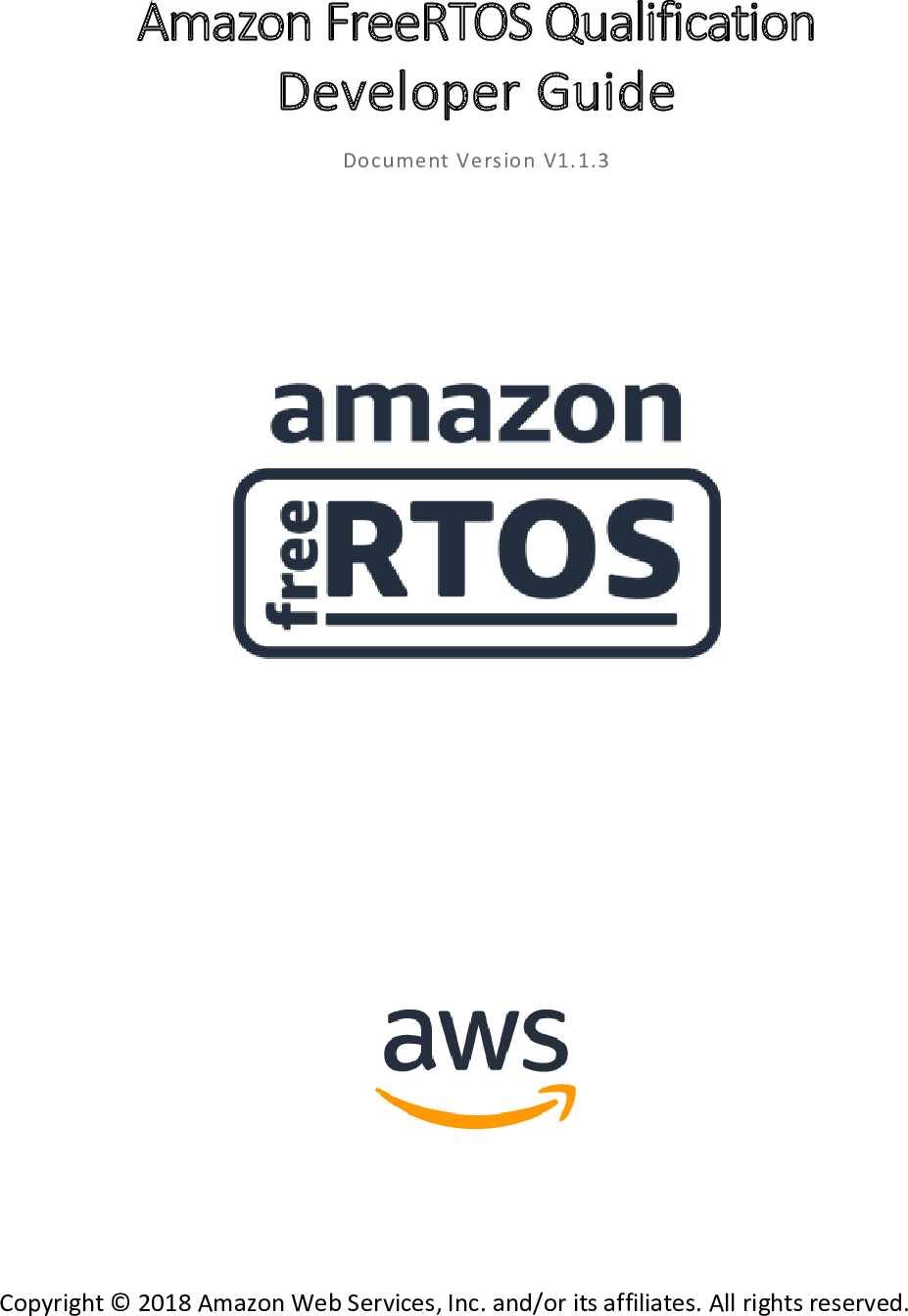 Amazon Free RTOS Qualification Program Developer Guide