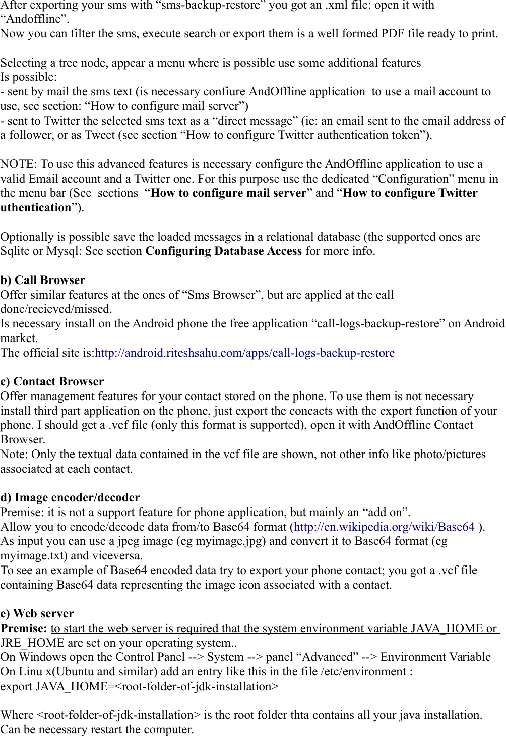 And Offline guide 1 0