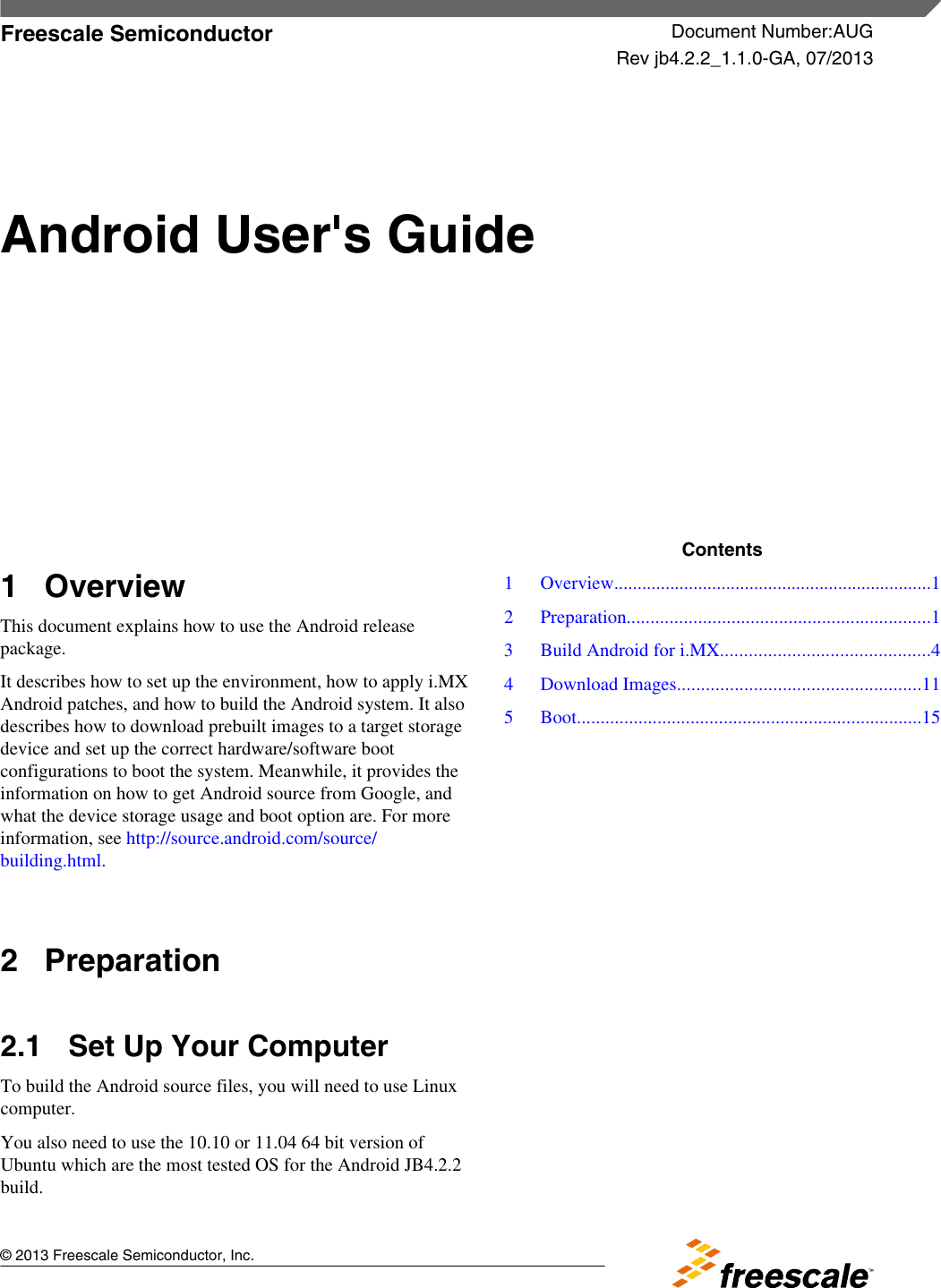 Android User's Guide User For SABRE SD